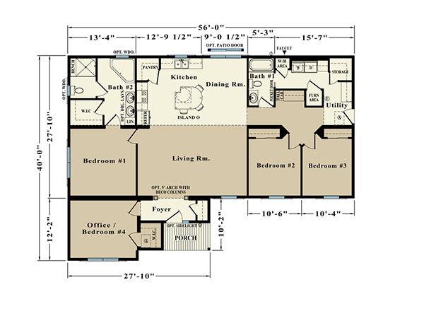 Melbourne ER-30A Floor Plan