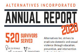 an image of the front of the 2020 annual report