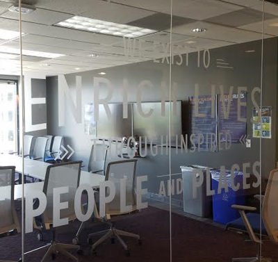Etched Look Window Graphics