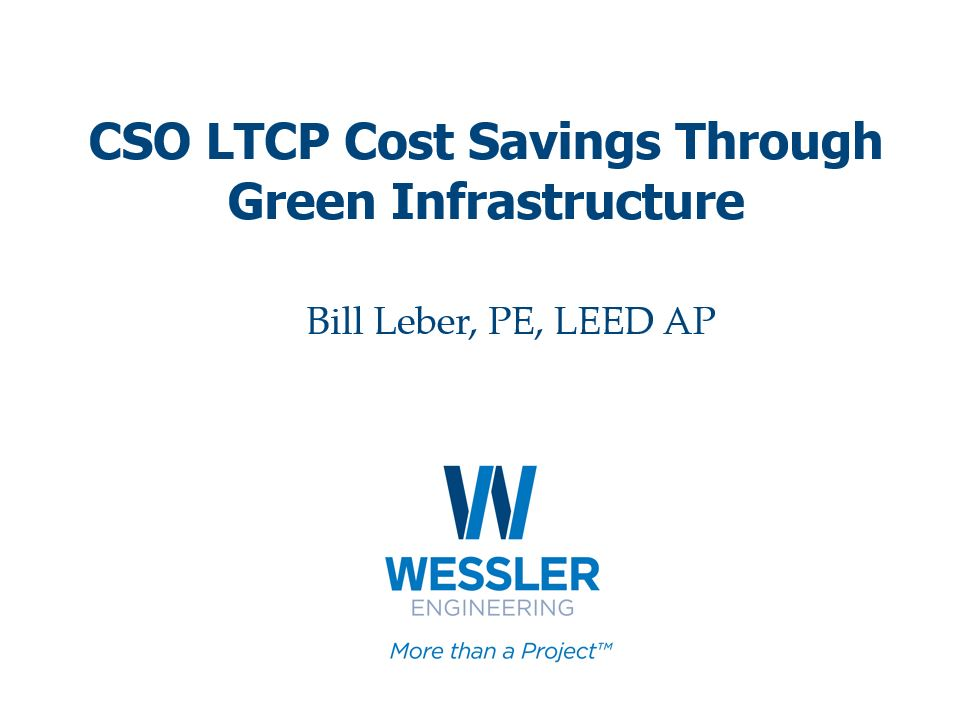 CSO LTCP Cost Savings Through Green Infrastructure