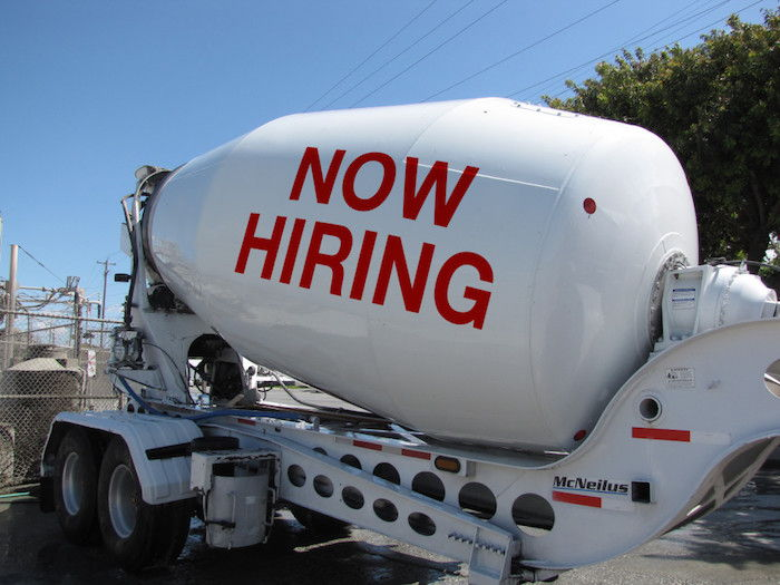 Image of a concrete truck