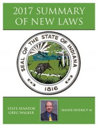 2017 Summary of New Laws - Sen. Walker