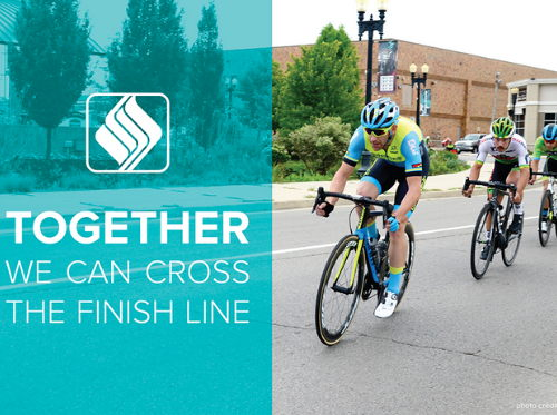 Together we can cross the finish line