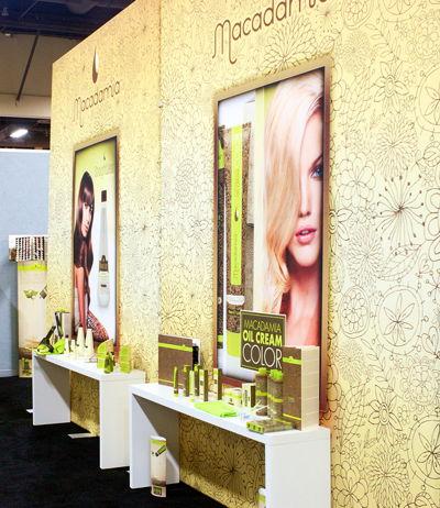 Macadamia Salon Backwall Event Graphics