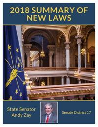 2018 Summary of New Laws - Sen. Zay