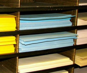 Image of stacks of paper