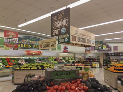 Organic Grocery Department Signage