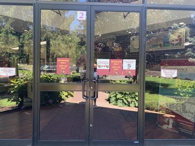 School Entrance Door Graphics COVID Signage