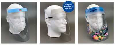 Disposable Plastic Face Shield Examples
