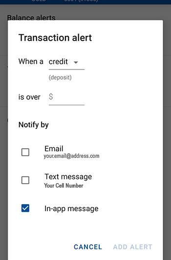 Transaction Alert Types