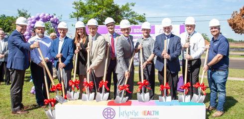 Image for Groundbreaking marks start of Inspire Health plan, construction of freestanding ER