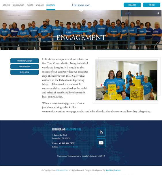 Hillenbrand Project - Engagement