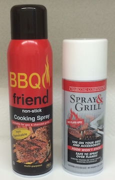 Non-Flammable Grill and BBQ Spray