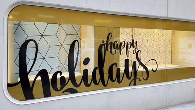 Lladro Holiday Window Vinyl
