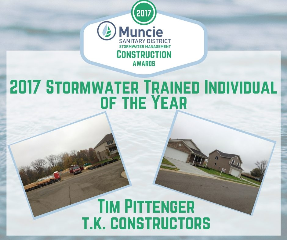 2017 Stormwater Trained Individual of the Year Award for Tim Pittenger