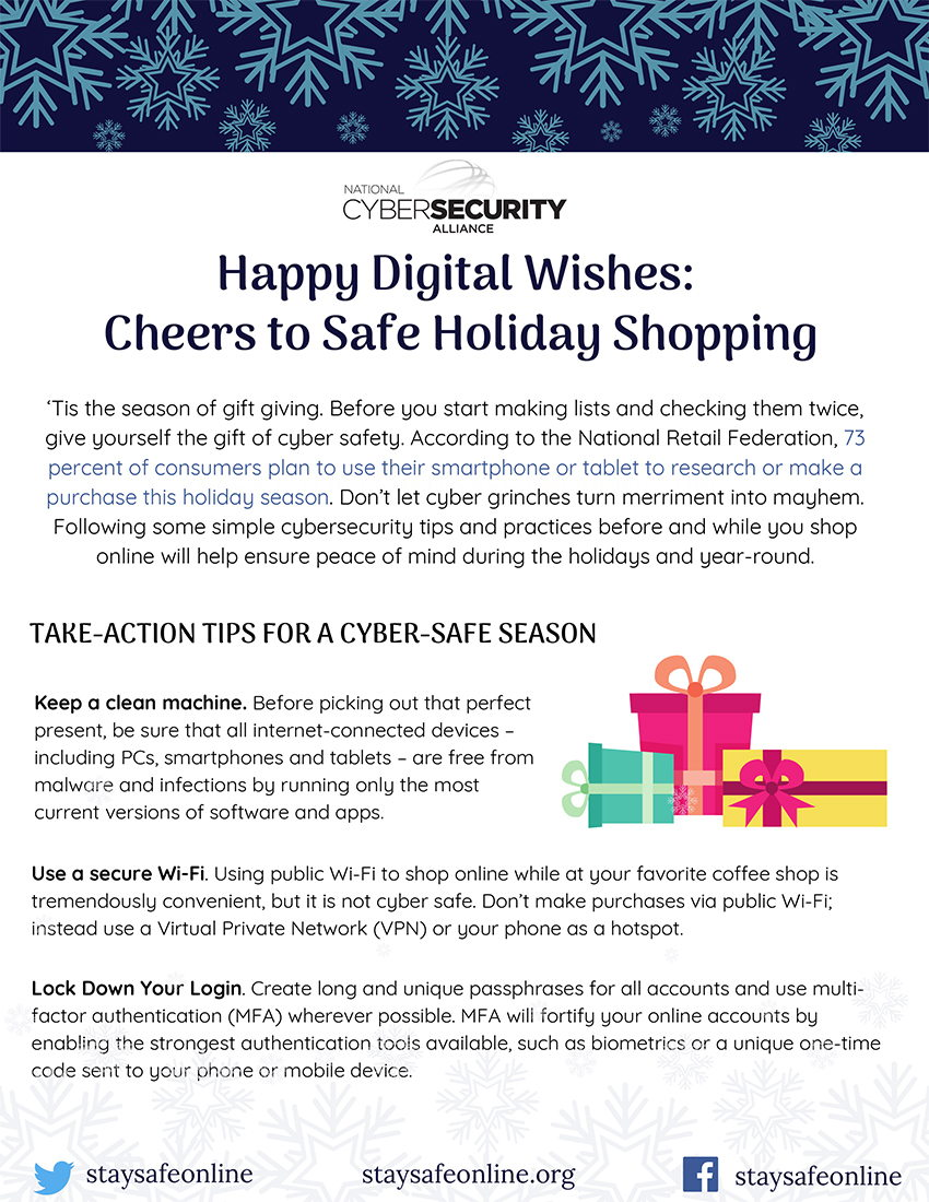 Happy Digital Wishes: Cheers to Safe Holiday Shopping