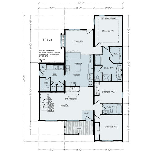 Floorplan of Executive Series