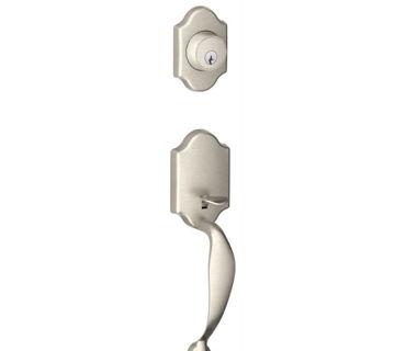 EXTERIOR DECORATIVE DOOR HANDLE-BRUSHED NICKEL