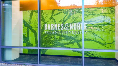 Tulane B&N Bookstore Front Window