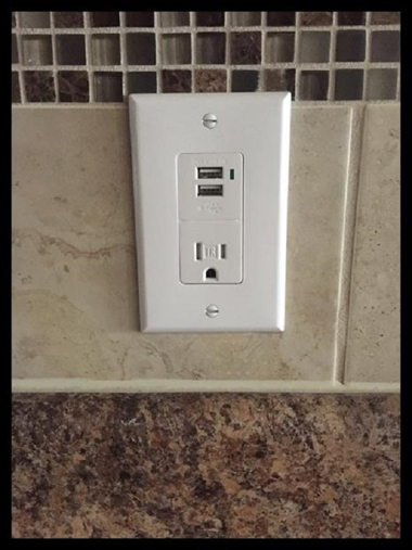 OPTIONAL USB/POWER OUTLET