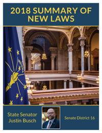 2018 Summary of New Laws - Sen. Busch
