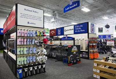 Product Display End Cap with Vendor Signage Sliders