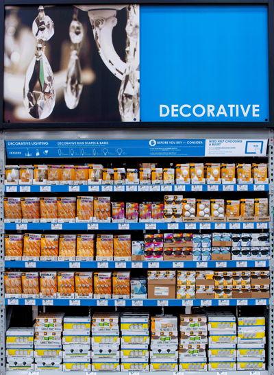 Decorative Light Bulb Section