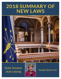 2018 Summary of New Laws - Sen. Leising