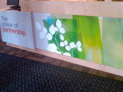 Reception Desk Graphic Panels