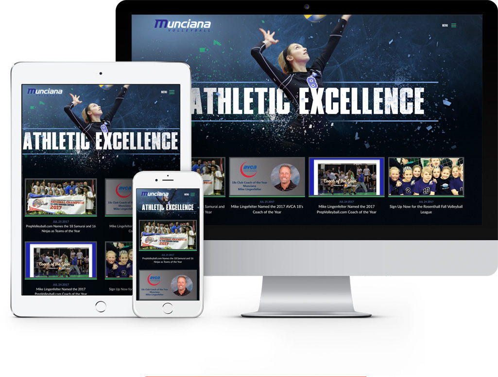 Munciana Volleyball New Website by SpinWeb