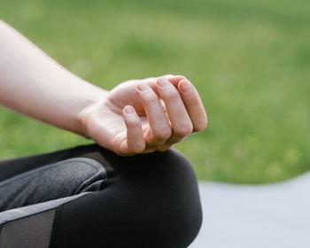 Yoga in the Lavender Field