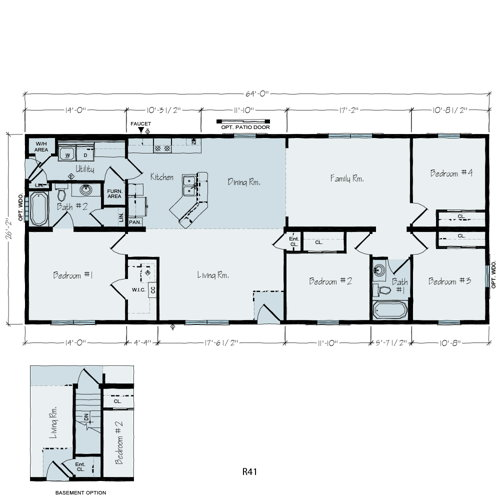 Floorplan of Lakeland