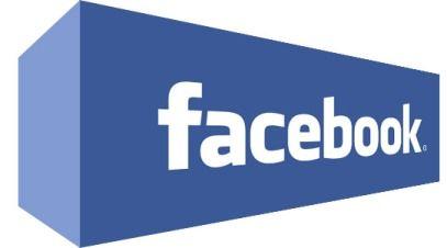 Facebook logo in a block
