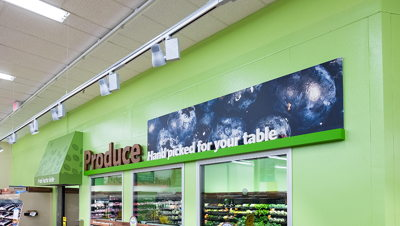 Dimensional Lettering Produce Department Sign