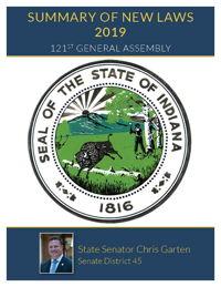 2019 Summary of New Laws - Sen. Garten