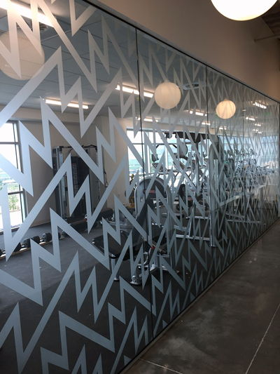 Privacy Film Fitness Room