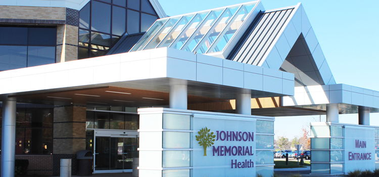 Johnson Memorial Health Main Entrance
