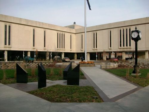 Delaware County Building Plaza After Completion in Fall of 2011