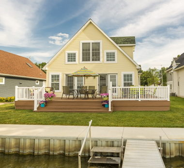 Cape Cod with Deck Backyard
