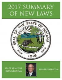 2017 Summary of New Laws - Sen. Grooms