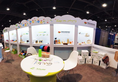 Self-Standing Recyclable Display Trade Show