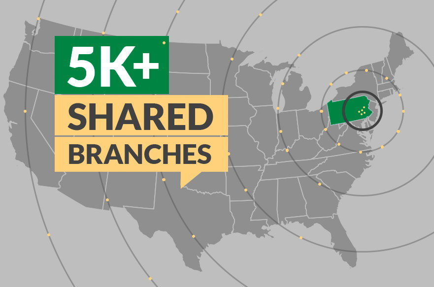 Image of a map with text saying they have 5k + shared branches