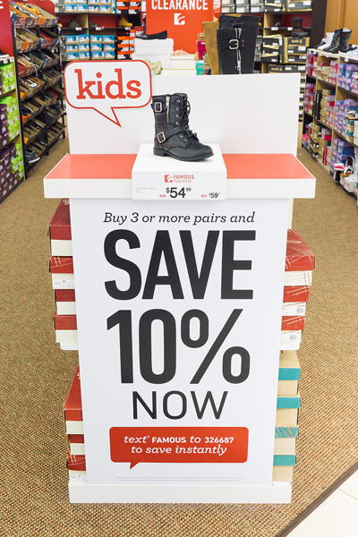 Famous Footwear Text Promo
