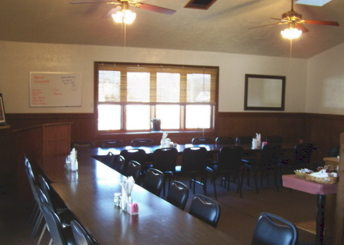 The banquet room at Ann's Restaurant