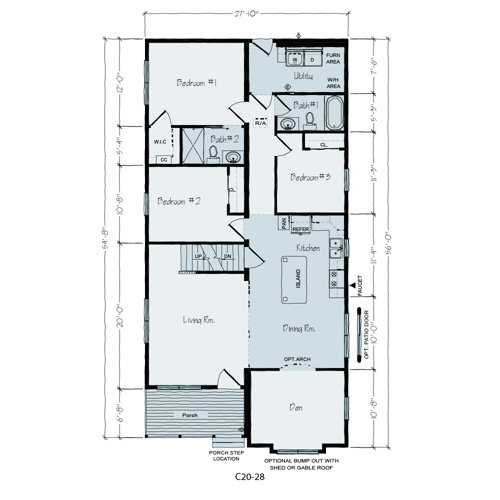 Floorplan of Tipton