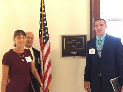 Jeff, Daniel and Debbie at Senator Coats Office