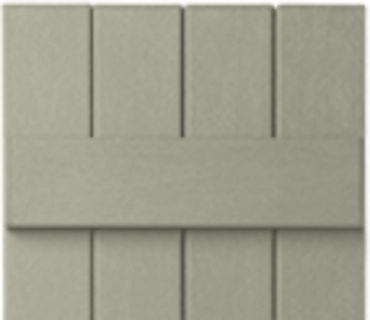 OPTIONAL BOARD & BATTEN SHUTTER - PEBBLESTONE CLAY