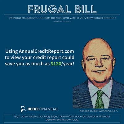 Frugal Bill credit report