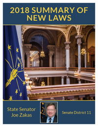 2018 Summary of New Laws - Sen. Zakas