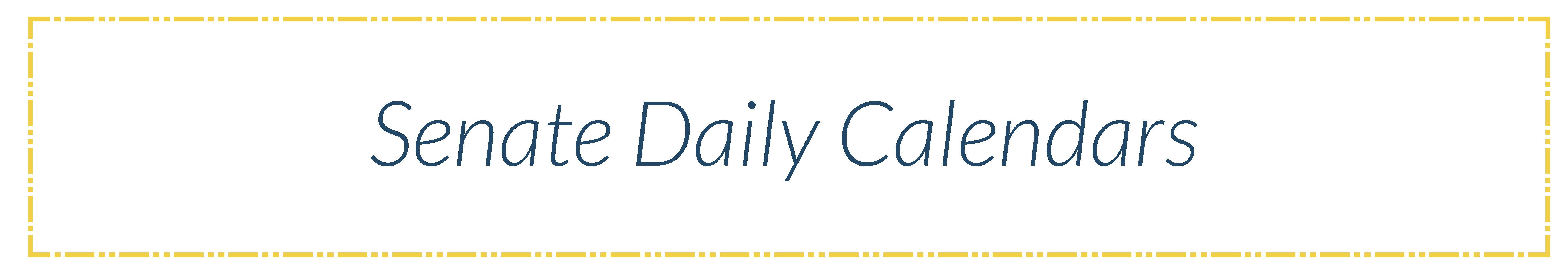 Senate Daily Calendars